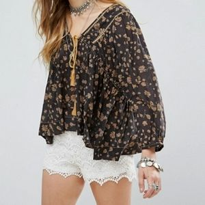 NWT Free People Never a Dull Moment Top
